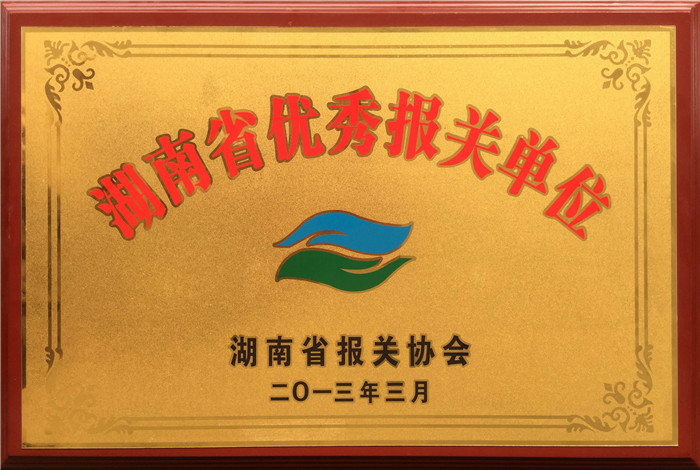 Advanced Customs Declaration Enterprise in Hunan